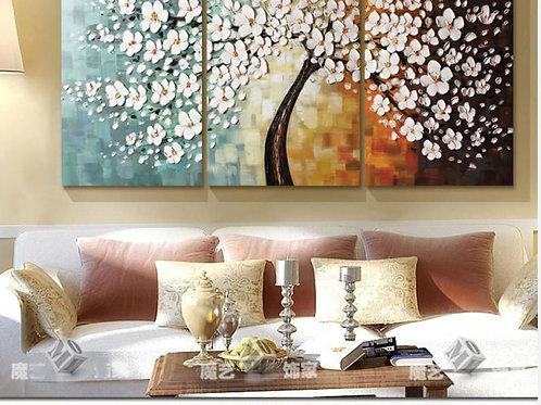 Pachira Macrocarpa Hand-painted wall Art