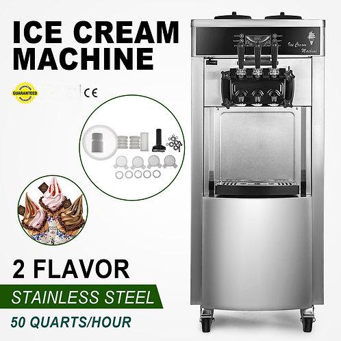 3 Flavor Soft Ice Cream Machine Ice Cream Maker Twist Soft Serve Gelato Machine