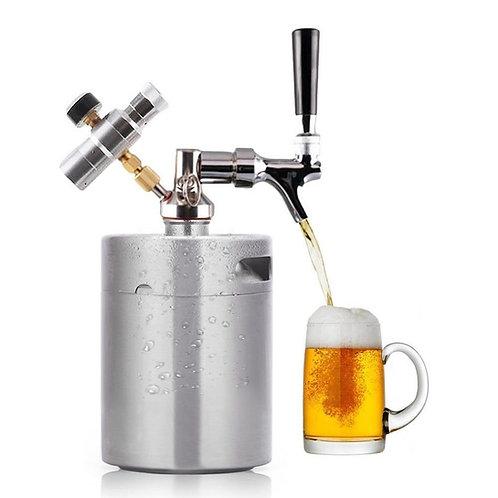 64 oz Mini Beer Keg Pressurized Growler for Craft Beer Faucet Dispenser System