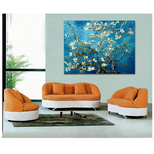 Van Gogh  - Flower Blossoming Almond Tree- Oil Painting Printed On Canvas