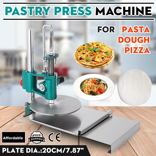 Dough press sheeter - ideal for roti - naan - small pizza -