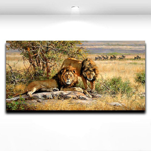 Wild king Lion Animal Modern Living Room Wall Art Painting Canvas