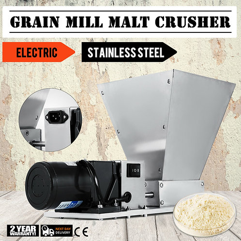 Electric Grain Mill Barley Grinder Malt Crusher Grain Mill Home Brew Mill
