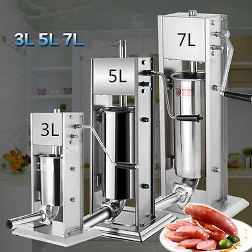 3 Sizes    Sausage Stuffer Filler  Machine Stainless Steel- 3L - 5L  -7L
