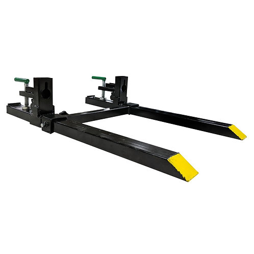 """CLAMP ON PALLET FORKS 30"""" TITAN W/ ADJUSTABLE STABILIZER BAR 1500 LBS. MAX $395"""