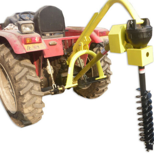 """30 HP HD Steel Fence Posthole Digger w/6"""" Auger 3 Point Tractor Attachment"""