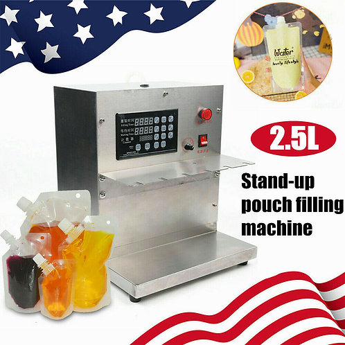 Standing Pouch Filler,Automatic nozzle liquid sauce filling machine 5-2500ML
