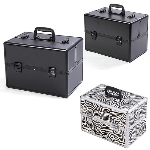 "Pro 14""x9""x10""Aluminum Makeup Train Case Jewelry Box Cosmetic Organizer 3 Colors"