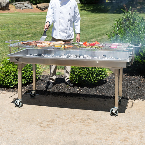"72"" Heavy duty stainless steel Charcoal Grill"