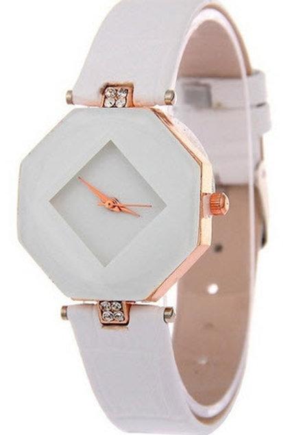 Modern designer watch - white