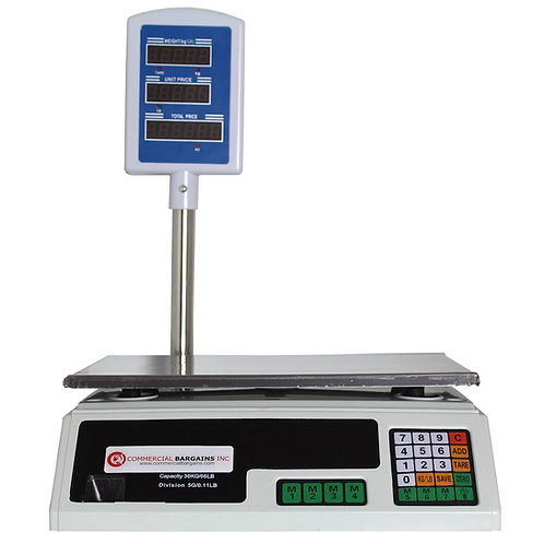 Scale Food Price Digital Computing Produce Meat Deli Weight Counting 60LB