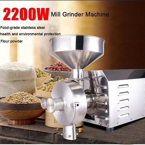 220V 50kg Electric Grain Cereal Herbs Spice Mill Grinder Flour Powder Machine