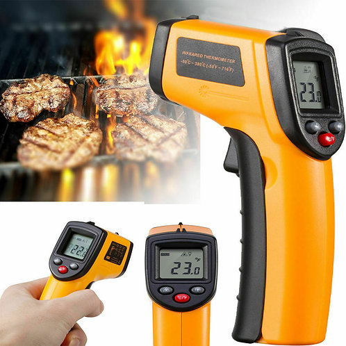 Temp-Meter Temperature Gun Non-contact Digital Laser IR Infrared Thermometer