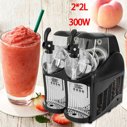 2 Tank Frozen Slushy Making Drink Juice Smoothie Maker Slush Machine