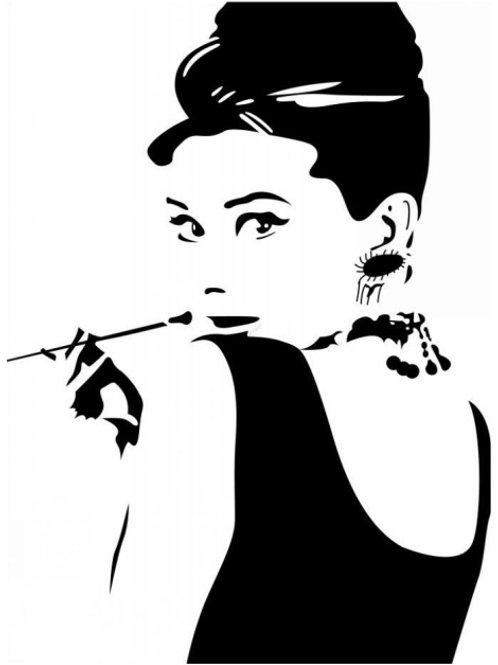 Audrey Hepburn Wall Stickers Room Vinyl Art Mural Decals DIY Home Decor
