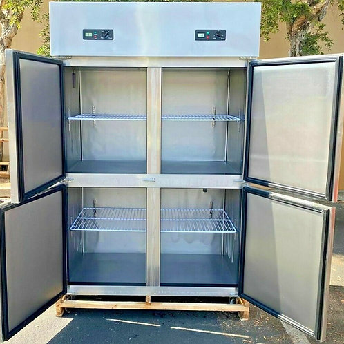 "NEW Four Door Commercial Fridge or Freezer 48"" x 29"" x 75"" Reach In 110V"