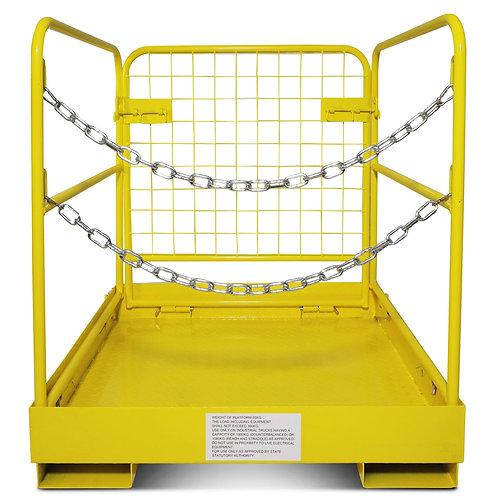 """Titan Forklift Safety Cage, Collapsible Work Platform, Steel Basket, 36"""" x 36"""""""