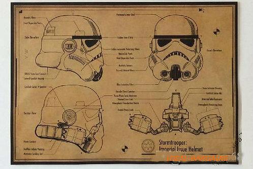 Star Wars Storm Troopers Vintage Paper Poster