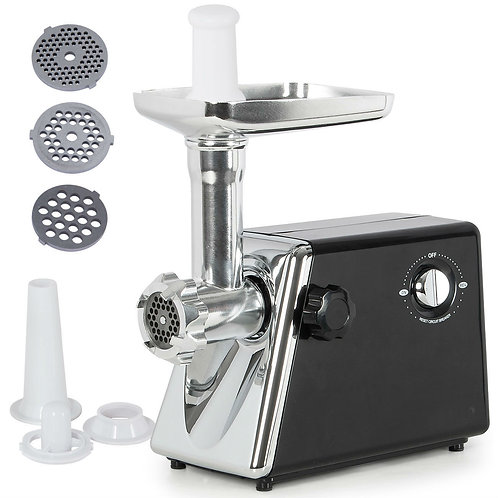 1300W Electric Meat Grinder Stainless Steel Sausage Kubbe Kit w/ Blade + Plate -