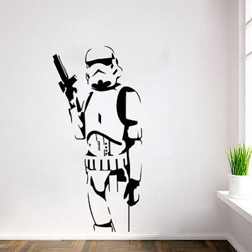 Removable Star Wars Wall Sticker Living Room Mural Decal Home Decor - Trooper