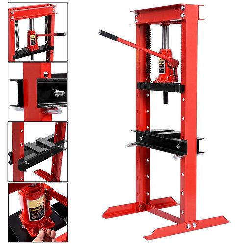 12 Ton Shop Press Floor H-Frame Press Plates Hydraulic Jack Stand Equipment