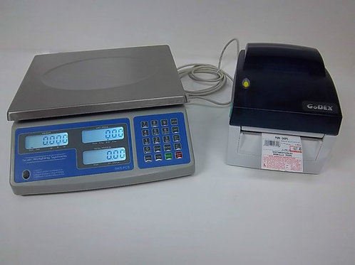 60 lb Price Computing Scale-lbs,kgs,oz Barcode Printer Thermal Label