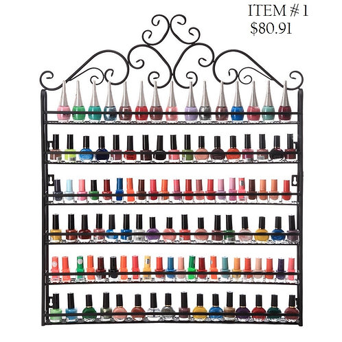 Big Metal Nail Polish Display Organizer