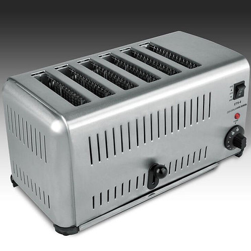 Commercial Portable Electric 6-slice Bread Toaster Machine Stainless Steel 220V