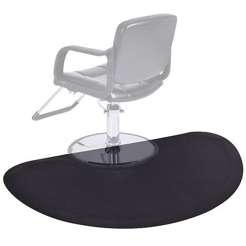 "Black Semi Circle 5'x3' 1/2"" Barber Salon Anti Fatigue Floor Mat Beauty Supplier"
