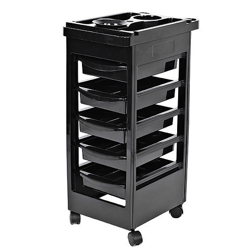 Salon Hairdresser Barber Hair Storage Trolley Beauty 5 Drawers
