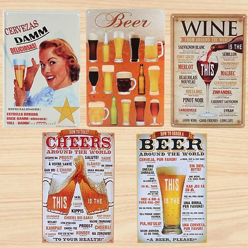 Vintage Beer Tin Signs - Choose 1 from 5 options