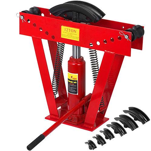 """12 Ton Hydraulic Manual Pipe Bender 6 Die Sets 1/2"""",3/4"""",1"""",1-1/4"""",1-1/12"""",2"""""""