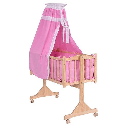 Wood Baby Cradle Rocking Crib Newborn Bassinet Bed Sleeper Portable Nursery