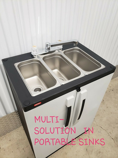 Portable NSF sink mobile Self contained Hot Water concession three  COMPARTMENT