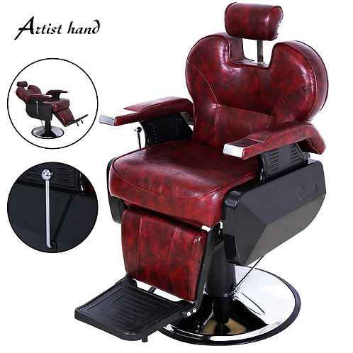 Heavy-duty Reclining Salon Styling Chair Hydraulic- RED OR BLACK