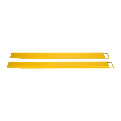 84x 5.5'' Forklift Pallet Fork Extensions Pair Steel -
