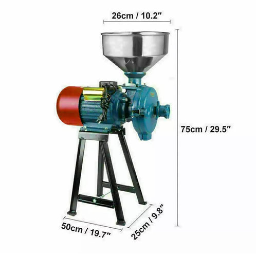 Electric Grinder Mill Grain 3000W Wheat Feed/Flour Wet & Dry Cereal Machine