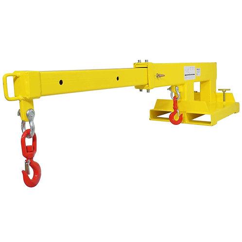 Forklift Mobile Crane Lifting Hoist Truss Jib Boom 2 Hooks 5500 lb Capacity - BR