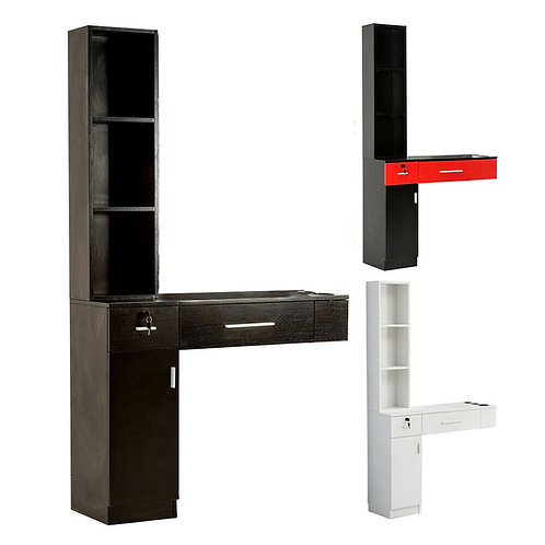Wall Mount Hair Styling Station Barber Cabinet Beauty Dest Salon Spa Equipment