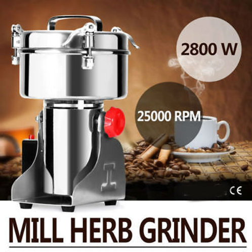 1000G Electric Herb Grain Mill Grinder Ores Salt 2800W Grinding Coffee Beans - F