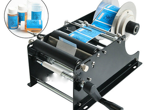 Manual Labeling Machine Round Bottle Packing Machinery Adhesive Sticker Labler