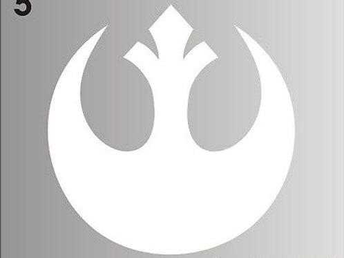 Star Wars - Rebel Alliance Sticker - Red - black or white decal
