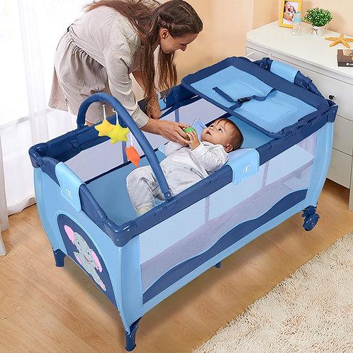 Baby Crib Playpen Playard Pack Travel Infant Bassinet Bed Foldable