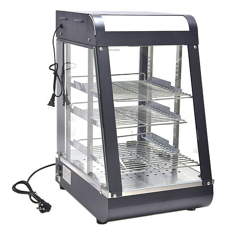 """15"""" Commercial Food Warmer Court Heat Food pizza Display Warmer Cabinet Glass -"""