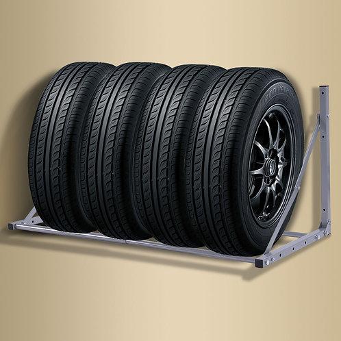 Folding Tire Wheel Rack Storage Holder Heavy Duty Garage Wall Mount Steel 300Lb