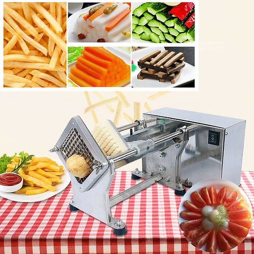 110V Automatic Electric Potato Tower Vegetable French Fries Slicer Cutter