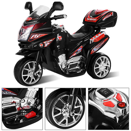 3 Wheel Kids Ride On Motorcycle 6V Battery Powered Bicycle Christmas Gift