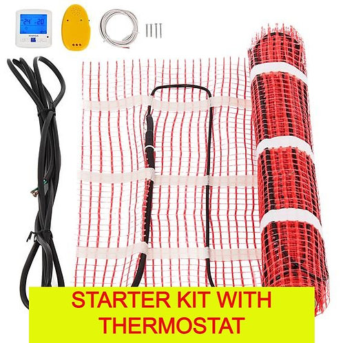 Electric heated floor system - start and add on kits - many sizes