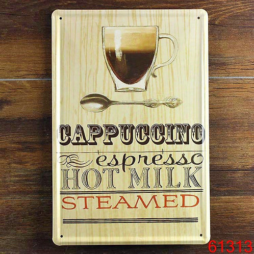 CAPPUCCINO ESPRESSO HOT MILK STEAMED Poster