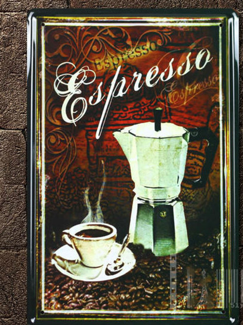 Espresso coffee metal painting painted iron